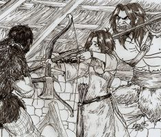These aren't wargs, they are werewolves by Shabazik