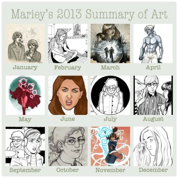 Mariey's 2013 Summary of Art by Mariey