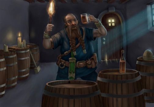 Dwarf Beer 6 pack side image by JohnMalcolm1970