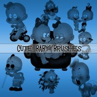 Cute baby brushes by Flina-Stock
