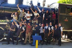 The almost complete crew by SteampunkChile