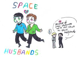 Space Husbands by sparklingblue
