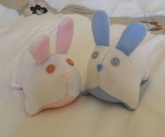 Girl and Boy Baby Bunnies by EmrT