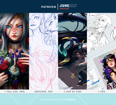 Patreon - JUNE2017 rewards by Amelion