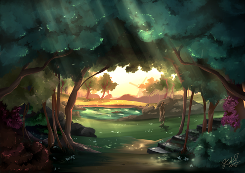 Concept Forest by EvilQueenie