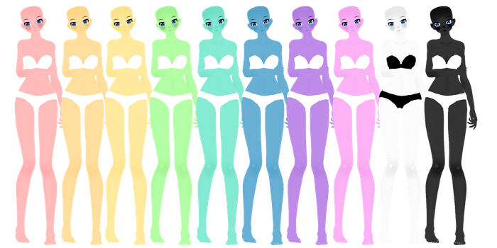 [MMD] TDA Colourful Skin Tones DOWNLOAD by MijumaruNr1