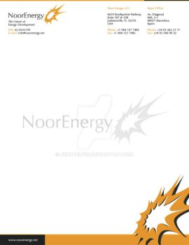 Noor Energy Letterhead Design by jennyelf02