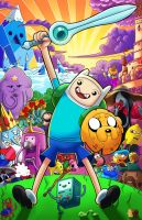 Adventure Time color by SemajZ