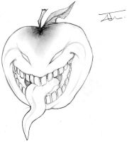 SCARY APPLE by NienorGreenfield