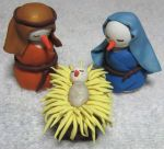 Snow People Nativity 2009 by SmilingMoonCreations