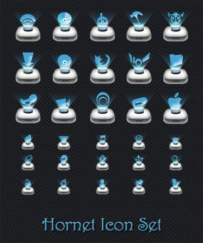 Hornet Icon Set by 878952