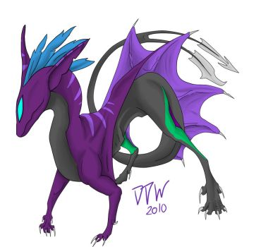 Nightmare Dragon by dark-dragon-wings