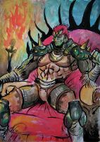 Color sketch of Great King of Evil Ganondorf by Daelyth
