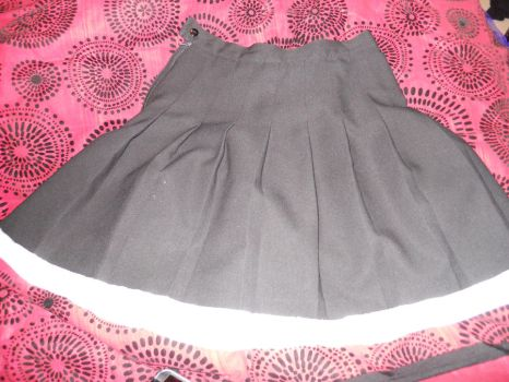 black pleated skirt with white by sezumiclan101