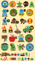 Sierra Magazine Stickers by j3concepts