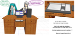 MMD project p4 Computer table by brsa