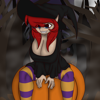 Spooky witch elf by Color-Spark