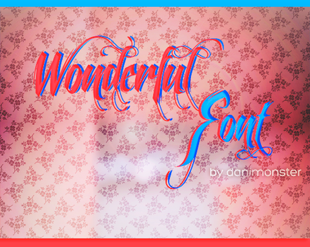 Wonderful Font- Feathergraphy by DaniMonster by DaniMonsterEditions