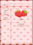 Strawberry CSS Journal Layout by Kezzi-Rose