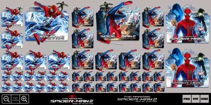 The Amazing Spider-Man 2 (2014) Folder Icon Pack by Bl4CKSL4YER