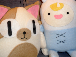 Best pals baby Fionna and baby Cake by rhaelle