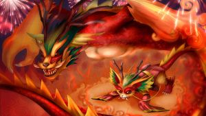 Ancient dragon Gnar (league of legends) by Natsu-Hermit