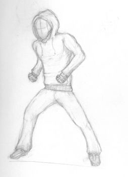 Fight Pose Sketch by qwertydew