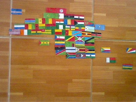 Flags of Africa: Continetal From. by Creativeartisit