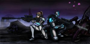 Starcraft 2 terran ghosts by JTSubconscious8