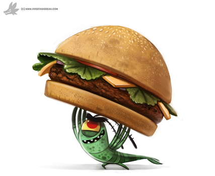 Daily Painting 899# Plankton by Cryptid-Creations