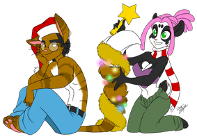 Decorating the Christmas tail by Aeolus06