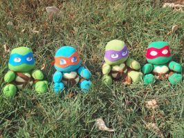 TMNT plushies go outside by animelover2day