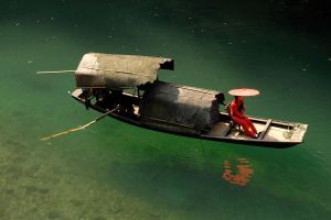 Traditional Chinese boat 1 by wildplaces