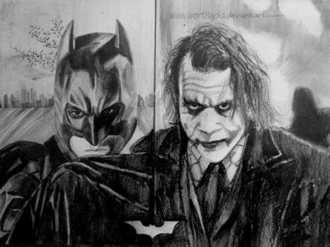 Joker and the Dark Knight by worthgold