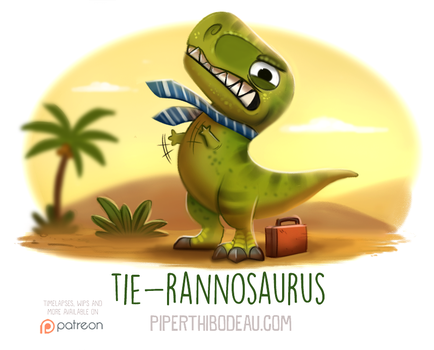 Daily Paint 1569. Tie-rannosaurus by Cryptid-Creations