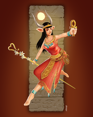 Hathor (Character Design Challenge entry) by nirryc