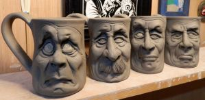 More Face Mugs- WIP by thebigduluth