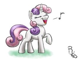 Day 15- Sweetie Belle by RavenousDrake