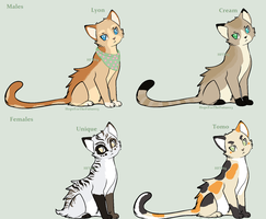 Free Feline Breedables :CLOSED: by MaidenOfTheMacabre