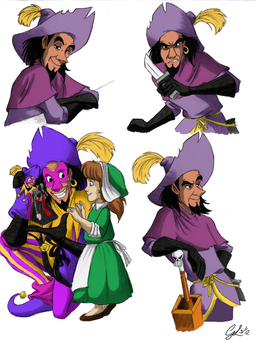 Clopin's expressions - coloured by giulal