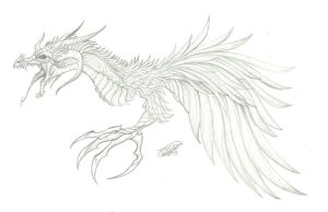 Stylized Dragon Thing by RoomsInTheWalls