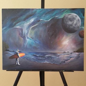 Space Oil Painting by etodorut