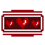 Stamp : Pixel Hearts by StarrySkyTrench