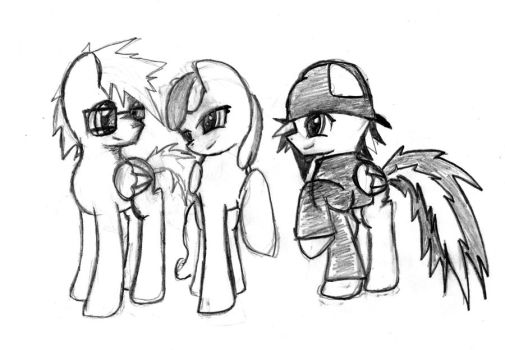 Sketch ponies by WolfOfSadness