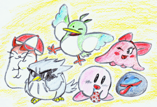Kirby and Co by dranza1