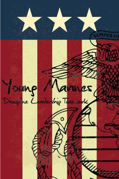Young Marines Vert Flag by sixlinepunk