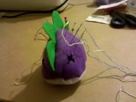 Pudgy Spike Plushie+Pincushion by sparklepeep
