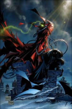 spawn and batman issue 1 by kennethfouche