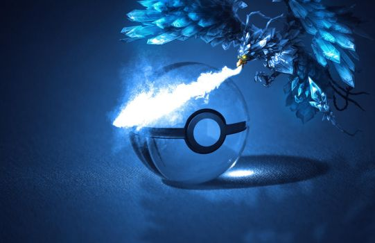 The Pokeball of Articuno by wazzy88