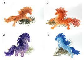 Horses Christmas decoration by hontor